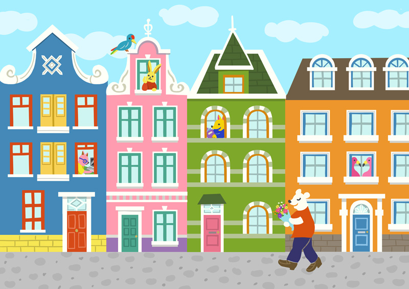 HOUSE& ANIMALS Illustration