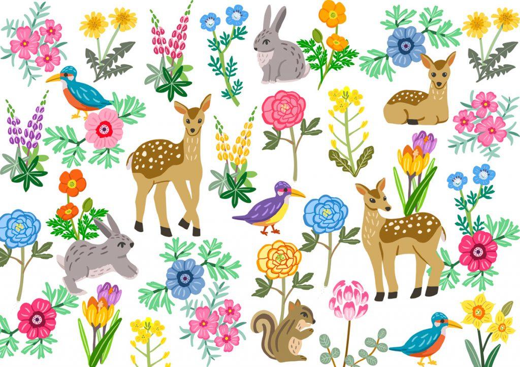 ANIMAL&SPRING Illustration